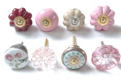 8 x Mixed Vintage Shabby Chic Cupboard Knobs Drawer Knobs Kitchen Knobs Cabinet | eBay