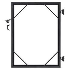 Veranda Euro Style Steel Gate Frame Kit-EF 60408 - The Home Depot