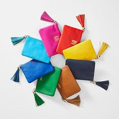 Made from soft leather with a zipper closure and a fun leather tassel, these colorful pouches are perfect for storing little essentials. Use it as a wallet, a coin purse, or throw it inside your favorite bag as an organizer and never waste time ag… Leather Tassel Keychain, Leather Pouch, Soft Leather, Leather Backpack, Business Gifts, Pet Gifts, Zipper Pouch, Personalized Gifts, Tassels