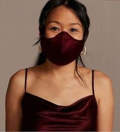 This burgundy satin wedding face mask is one of our WeddingWire editors' top picks. Click for more wedding mask ideas. Planning your wedding has never been so easy (or fun!)! WeddingWire has tons of wedding ideas, advice, wedding themes, inspiration, wedding photos and more. {David's Bridal}