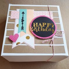 Homemade Birthday Cards, Birthday Diy, Party In A Box, Party Kit, Cool Paper Crafts, Diy And Crafts, Diy Gift Box, Diy Gifts, Anniversary Gift Ideas For Him Boyfriend