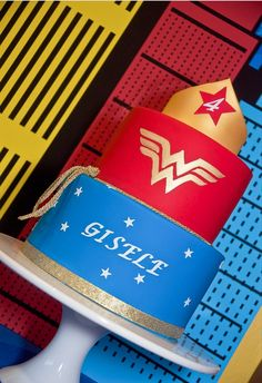 Wonder Woman Inspired Cake - Wonder Woman Birthday Party