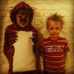 Calvin & Hobbes (Just don't tell Bill Watterson) | Community Post: 17 Creative Kidlit-Inspired Halloween Costumes