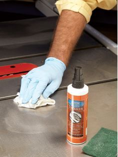 TopSaver rust remover How to remove rust from a table saw
