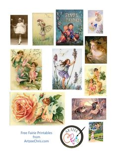Fairy printable for scrapbooking and paper crafting