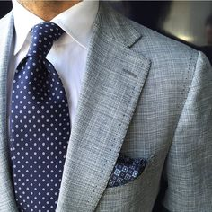 "violamilano: "" Classic Flower 7-fold silk - Navy tie worn by @suitwhisper Shop all handprinted ties & pocket squares online at www.violamilano.com #violamilano #handmade #madeinitaly #luxury..."