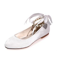 Women's+Wedding+Shoes+Round+Toe+Flats+Wedding+/+Party+&+Wedding+Shoes+More+Colors+available+–+USD+$+85.48
