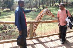 Kenya wildlife:  Baba Courtney was having none of that giraffe... :-)