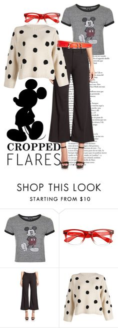 """How the ""Mouse"" does Cropped Flares!"" by bee4735 on Polyvore featuring Topshop, Marc Jacobs, Brooks Brothers, women's clothing, women's fashion, women, female, woman, misses and juniors"