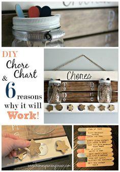 DIY Chore Chart & 6 Reasons why it will work! www.homespunengineer.com