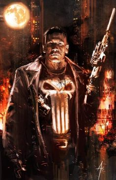 Frank Castle, O Justiceiro (The Punisher) Arte Dc Comics, Marvel Comics Art, Bd Comics, Marvel Heroes, Marvel Avengers, Captain Marvel, Comic Book Characters, Comic Character, Comic Books Art