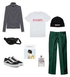 """Untitled #46"" by rayensulistiawan on Polyvore featuring Alygne, Dickies, Vans, JanSport, Balenciaga, Gucci, men's fashion and menswear"