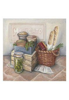 Mercato II Premium Giclee Print by Megan Meagher at eu.art.com