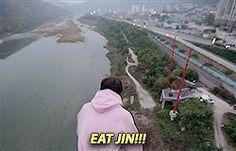 Jin bungee jumping pt.1/6