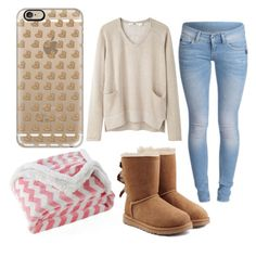 Lazy Winter Day by cmankin on Polyvore featuring polyvore fashion style Hope UGG Australia Casetify Lala + Bash clothing