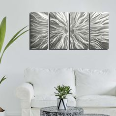 Silver Metal Wall Art, Modern Wall Sculpture, Abstract Indoor Outdoor Art Home Office Decor Wall Hanging - Static by Jon Allen Modern Metal Wall Art, Abstract Metal Wall Art, Large Metal Wall Art, Modern Art, Silver Wall Art, Silver Walls, Silver Metal, Contemporary Wall Sculptures, Metal Sculpture Wall Art