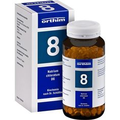 BIOCHEMIE Orthim 8 Natrium chloratum D 6 Tabletten:   Packungsinhalt: 800 St Tabletten PZN: 08885481 Hersteller: Orthim KG Preis: 8,91…
