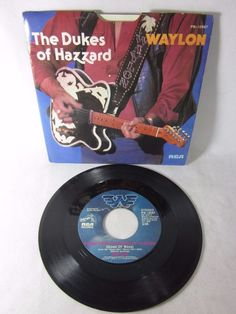 Waylon Jennings - The Dukes of Hazzard - Good Ol' Boys - It's Alright - vinyl 45 #CowboyCountryOutlawCountry
