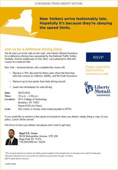 Liberty Mutual's discount Defensive Driving Course