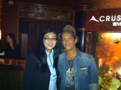 Mrs. Hannah An and Bruno Mars at our Crustacean in Beverly Hills restaurant!