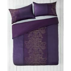 Buy Purple and Gold Damask Bedding Set - Double at Argos.co.uk - Your Online Shop for Duvet cover sets.