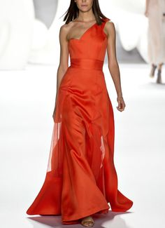Carolina Herrera NYFW Spring 2013 rtw - phe-nomenal.tumblr.com (Hate the shoulder/bust-line but love the color and rest of the cut.)