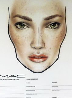 Unprocesses A/W makeup trends, face chart by Amalia Bot @MAC