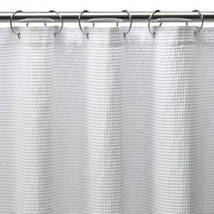 "Shower Curtain X-Long Waffle - White (72x96"") - $15.79 Target"