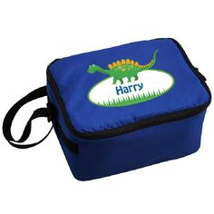 Dinosaur Personalised Lunch Bag. https://harringtons-gift-store.co.uk/collections/back-to-school/products/dinosaur-personalised-lunch-bag