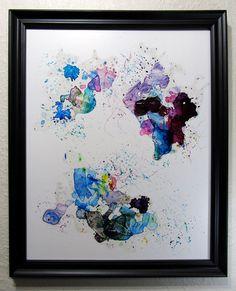 Art mural coloré cadeau parfait encadré par MaryJRobbinsArt sur Etsy