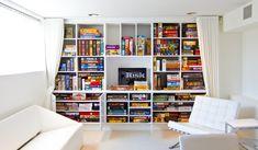Game room // Jen Chan #bookshelves