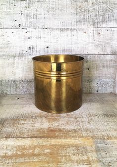 Brass Planter Large Brass Container Large Brass Plant Pot Garden Container Hollywood Regency Decor Outdoor Planter Mid Century Planter by TheDustyOldShack on Etsy