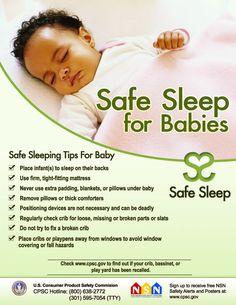 Safe Sleep for Babies Poster