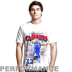 Blake Griffin LA Clippers Center Court Performance T-Shirt - White - $21.84