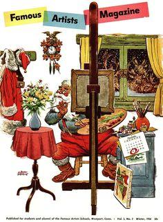 Famous Artists Magazine - Albert Dorne