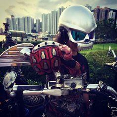Masei Skull 429 Helmets for Harley Davidson Chopper Custom Bikers - sales@maseihelmets.com