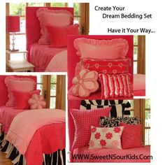 Luxury, bedding, girls, pink, twin, bed, velvet, comforter, ducet, beautiful, hot, children's, child, room, girl, sets, luxurioius