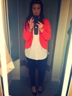 Shopping, colours, orange, fitting room