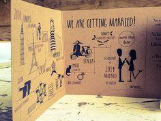 ¿Os gustan las invitaciones de boda sobre viajes? Hablamos de las invitaciones de Helenca y Paul, una manera distinta de contar una historia errante.