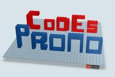 code promo en lego, oeuvre d'art signée Anthony