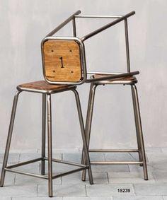 Sgabelli legno e ferro - Iron and wood stools http://www.griffegenova.com/Griffe_Home/Divani_pint_new.html