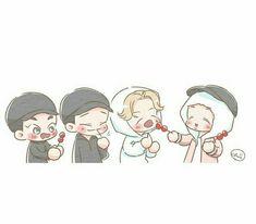 Exo Cartoon, Exo Anime, Exo Fan Art, Short Comics, Kpop Fanart, Chibi, Minnie Mouse, Disney Characters, Fictional Characters