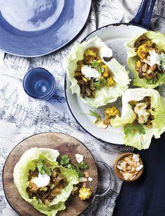 Spicy roast cauliflower in lettuce cups | LoseitLoseit | The LCHF / banting way