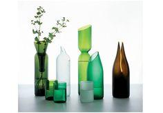 floreros con botellas