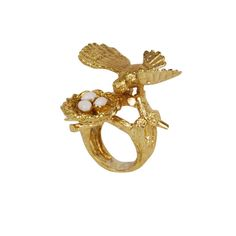 Bird Nest Brass Ring | Monserat De Lucca