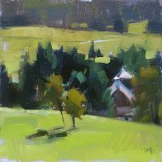 """Two New Trees - SOLD"" - Original Fine Art for Sale - © Carol Marine"