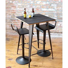 Update your kitchen or dining area with the Emery Industrial Adjustable Barstool. This stool features adjustable height and is available in brown and white, making it easy to match to any decor.