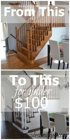 how to refinish hardwood floors| DIY refinish and stain stairs | before and after photos | refinish oak for cheap | low cost DIY |
