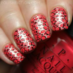 OPI She's a Bad Muffuletta! with double stamping nail art