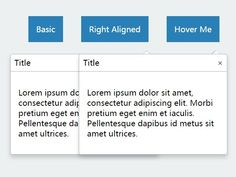 A very small jQuery plugin to show CSS3 animated popover messages on any DOM elements when clicked on or hovered over.
